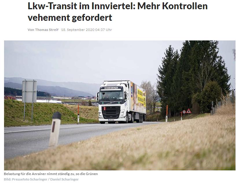LKW-Transit im Innviertel