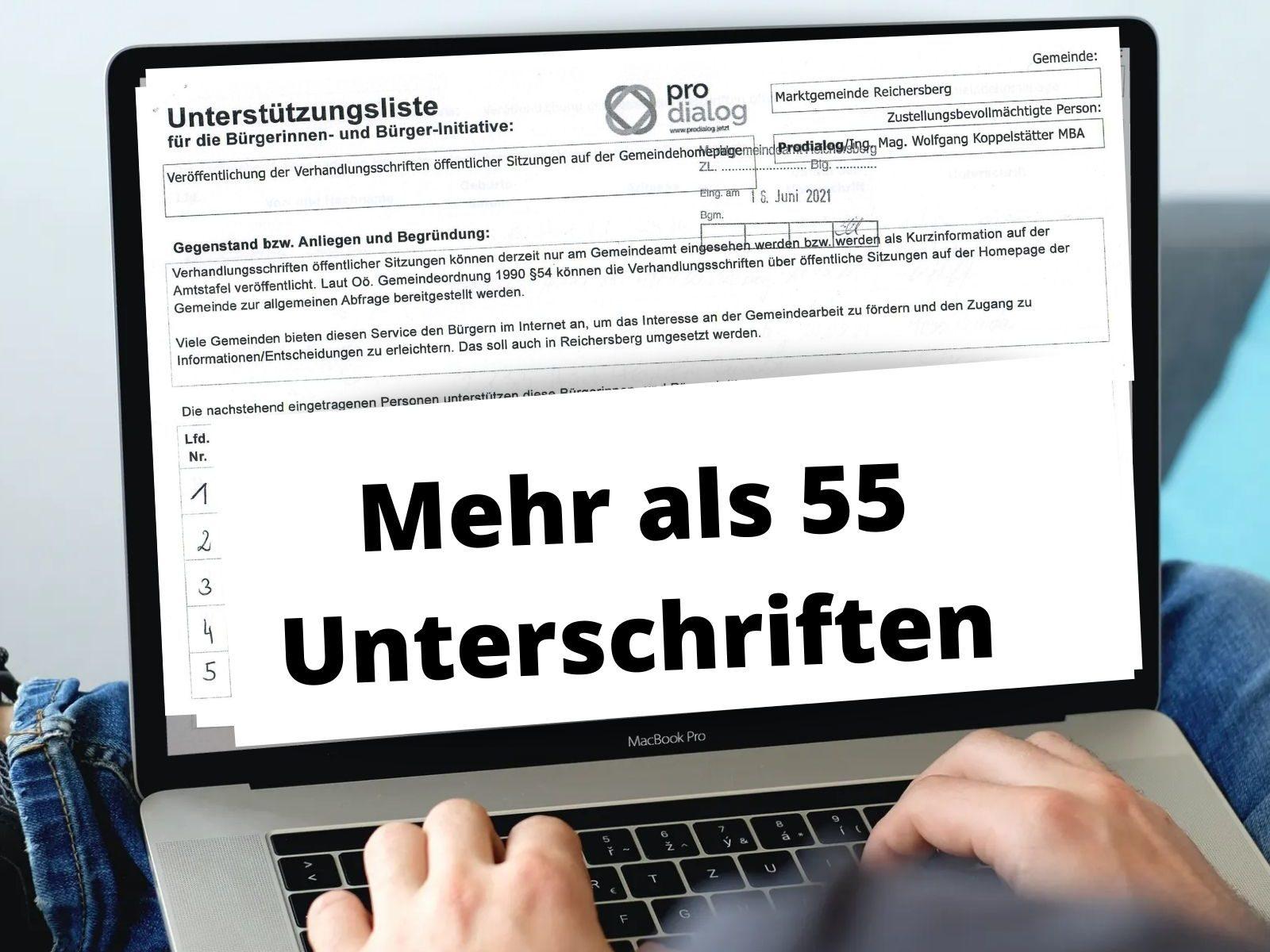 Verhandlungsschrift Gemeinde Reichersberg